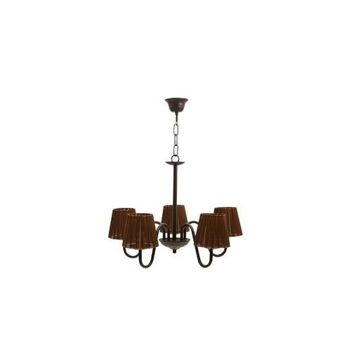 Lampara Serie Nancy Forja Marron 5xe14 C/pantalla 38x50