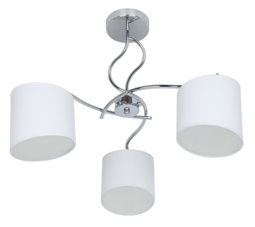 LAMPARA GISELE BLANCO/CROMO 3 LUCES